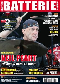 Batterie 53 : Thomas Patris Neil Peart (Rush) Nathan Allen (Amy Winehouse)  Julien Goepp Paco Sery (Sixun)  Curt Bisquera  Dave Lombardo (Slayer)  Josh Freese Loïc Pontieux Mitch Mitchell (The Jimi Hendrix Experience) Kit Tama - Superstar Hyper Drive 24'' Caisse claire Black Panther érable 15 plis Kit Pearl Vision VBX 6 fûts rock 22'' Cymbales Sabian APX