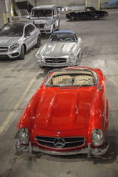 300 SL Roadster lineup.