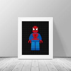 Lego Spider Man Print Superhero Pop Art by SimplyLoveCreations