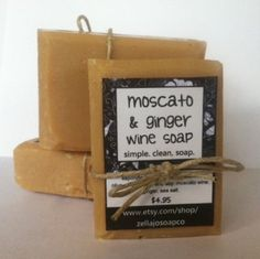GINGER & MOSCATO Wine Soap by ZellaJoSoapCo on Etsy, $4.95