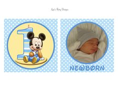 Baby Mickey Mouse 12 Month Birthday Banner - Matches Mickey's 1st Party Supplies - DIY Printable - Digital File