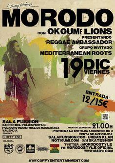 Entradas para Morodo + Mediterranean Roots en Massanassa el 19 de diciembre 2014 en notikumi