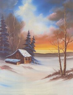 Bob Ross - a very typical Bob Ross painting. Check out his site for more outstanding artworks.