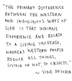 """This sums up the Native American view of """"spirituality"""" and contrasts it against the 2-Dimensional European view."""