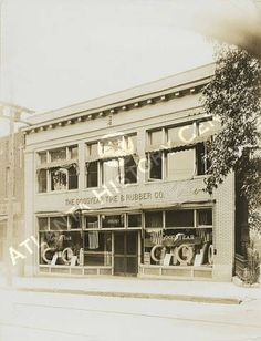 View of the Goodyear Tire & Rubber Company on Peachtree Street in Atlanta, Georgia. Atlanta History Center.