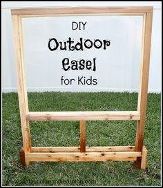 DIY Outdoor Easel for Kids