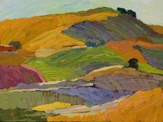 Larisa Aukon, Wine Country by Larisa Aukon Oil ~ 12 x 16