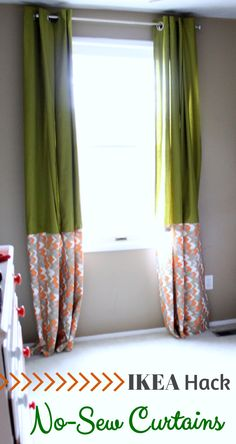 Super simple and beautiful no-sew curtains! | Just a Girl and Her Blog