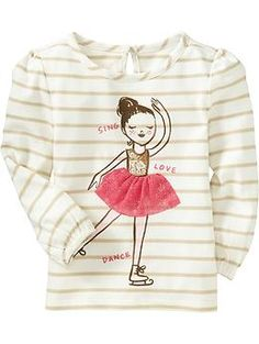 Striped Embellished-Graphic Tops for Baby | Old Navy