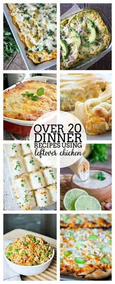 Make good use of your grocery budget and your time with these Leftover Chicken Recipes that are perfect for weeknight dinners!   The Love Nerds
