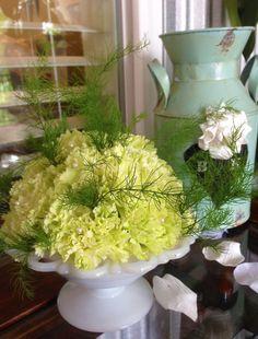 Green and green and white.  Adorna Design at TerrAdorna.