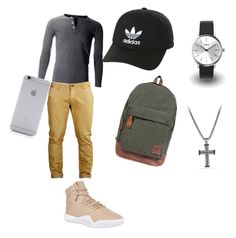 """""""The slam dunk"""" by lauren-puchala2234 ❤ liked on Polyvore featuring adidas Originals, David Yurman, KENNY, Native Union, men's fashion and menswear"""