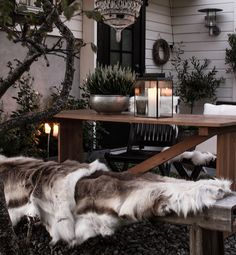 Outdoor seating#table Draumesidene: AUTUMN