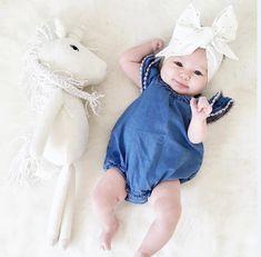 Nice Cute Newborn Baby Girl Lace Romper Clothes Infant Bebes Lace Jumpsuit Denim Rompers Jumpsuit Sunsuit Outfits - $12.93 - Buy it Now!