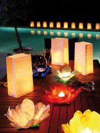 Lanterne in carta! Perfette per un compleanno in giardino! #dmail #birthday