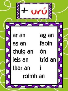 Ag úsáid Réamhfhocail na Gaeilge // Using Prepositions in Irish Class Displays, Classroom Displays, Class Rules Poster, Short Vowel Sounds, Irish Proverbs, Irish Language, 5th Class, Scottish Gaelic, Classroom Organisation