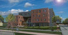 LLOX Architecten ontwerpt eigenzinnige zorgflats met gevelsteen van @Vandersanden Group