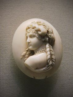 Ivory cameo, French, about 1850-60 | Flickr: Intercambio de fotos