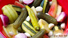 Ezt fald fel!: Kovászolt dinnyehéj, cukkini, uborka, tök, lila hagyma és társai... Pickles, Cucumber, Sausage, Salads, Appetizers, Food And Drink, Banana, Keto, Canning