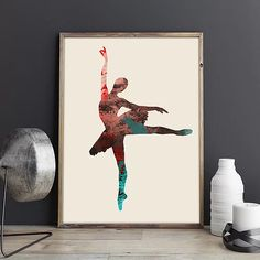Ballerina Wall Art Printable,Colorful Ballet Dancer Artwork,Ballet Gifts Ideas.Enter a promo code - LOVE40 - when you check out and get -40% discount . #ballerinaartprint #artwork #baleletdancergiftifeas #printathome #modernwalldecor #mitkoperoskiphotography #infiniteartshop #digitaldownload #largeprint #24x36inches #60x90cm #livingroomdecor #officedecorideas #