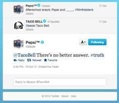 #Pepsi and #TacoBell go trolling for kids on twitter.