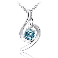Fancy 18k White Gold Plated Light Aqua Blue Swarovski Austrian Crystal Element Swirl Charm Pendant Necklace Elegant Silver Color Crystal Fashion Jewelry P9892 Enchanting Jewels Necklace, http://www.amazon.com/dp/B009MOTG4Q/ref=cm_sw_r_pi_dp_FvhCqb0GX6BEZ
