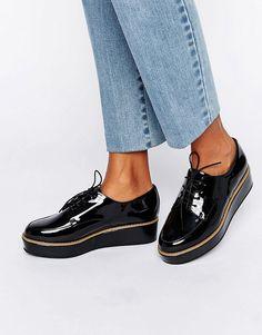 Image 1 - ASOS - MAVIS - Chaussures à plateforme et lacets
