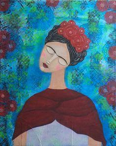Frida 2 Art Print by Aneta Srodon - X-Small Buy Frames, Printing Process, Disney Characters, Fictional Characters, Gallery Wall, My Arts, Art Prints, Disney Princess, Artist