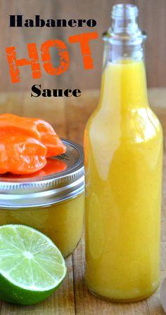 Homemade Hot Sauce Recipe, Habanero Hot Sauce Recipe, Dips Spreads ...