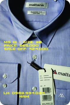Áo sơ mi nam chính hãng Mattana giảm giá cực sâu 20-30%