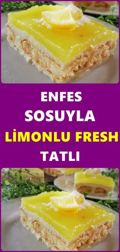 Muhteşem Aromasıyla Limonlu Fresh Tatlı – Tatlı tarifleri – Las recetas más prácticas y fáciles Pasta Recipes, Cake Recipes, Dessert Recipes, Köstliche Desserts, Delicious Desserts, Lemon Recipes, The Fresh, Good Food, Food And Drink