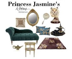 Jasmine's room  (Disney Dwellings: Awesome Interiors Inspired By Favorite Disney Characters!)