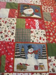 Snowman Quilt, Panel Quilts, Quilt Top, Quilting, Blanket, Table, Bedspreads, Tables, Fat Quarters