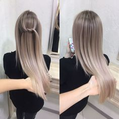 Straight And Sleek Ash Blonde Ombre
