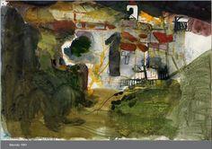 Barbara Rae, Contemporary Art, Abstract Art, Sketchbook Ideas, Pastels, Drawings, Artwork, Studios, Buildings