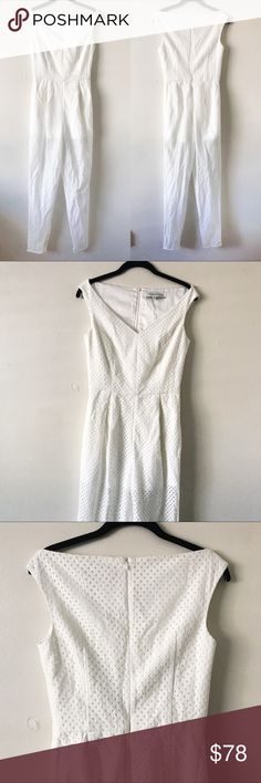 Keepsake White Eyelet Jumpsuit • brand: keepsake  • condition: NWOT  • size: small  • description: sweetheart neckline, zips on back  bundle to save 💵! no trades/holds/try-ons. will try to answer all questions asap. no price negotiations in comments.  ✨happy shopping!✨ KEEPSAKE the Label Pants Jumpsuits & Rompers