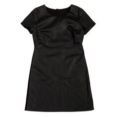 Faux Leather Front Dress Black now featured on Fab.