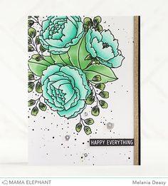 @heymamaelephant highlight Organic Blooms stamp set. This stamp is so pretty!! #mamaelephant #prettypinkposh