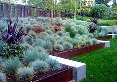 Steel Retaining Wall Design, Pictures, Remodel, Decor and Ideas Modern Landscape Design, Modern Landscaping, Contemporary Landscape, Front Yard Landscaping, Landscape Architecture, Landscaping Ideas, Landscaping Software, Steel Retaining Wall, Retaining Wall Design