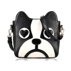 New Arrival Puppy Pattern and PU Leather Design Crossbody Bag For Women, BLACK in Crossbody Bags | DressLily.com