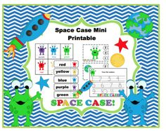 Space Case Mini Printable from Preschool Printables on TeachersNotebook.com (22 pages)  - Printable: The activities in this pack are designed to have fun while the child learns a variety of preschool concepts including number, color, sequence, size, letters and more.