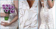 No adivinaríais nunca con qué está hecho este vestido de novia
