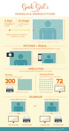 Geek Girl's Guide to Pixels & Resolution - from Jessica Sprague