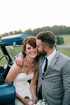 #EnzoaniRealBride in Dakota wedding dress / Andrew Morton Photography