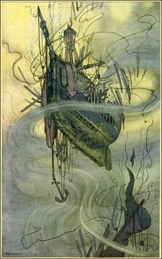 A Song of the English by Rudyard Kipling, illustrated by W. Heath Robinson (1909)