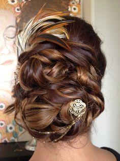 20's theme hair bridal