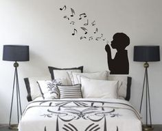 Music Notes Room Ideas | boy_blowing_music_notes_wall_decal_sticker_bubbles_nursery_kid_room_g ...