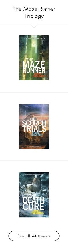 """The Maze Runner Triology"" by grandmasfood ❤ liked on Polyvore featuring books, other, fandoms, maze runner, -pictures, backgrounds, accessories, stuff, home and kitchen & dining"