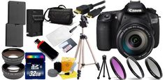 Canon EOS 60D SLR Digital Camera with Canon EF-S 18-200mm IS Lens + 32GB Professional Accessory Kit
