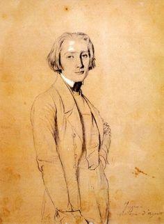 Franz Liszt by Jean Auguste Dominique Ingres